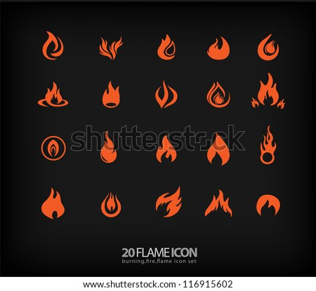 Flame icons 2
