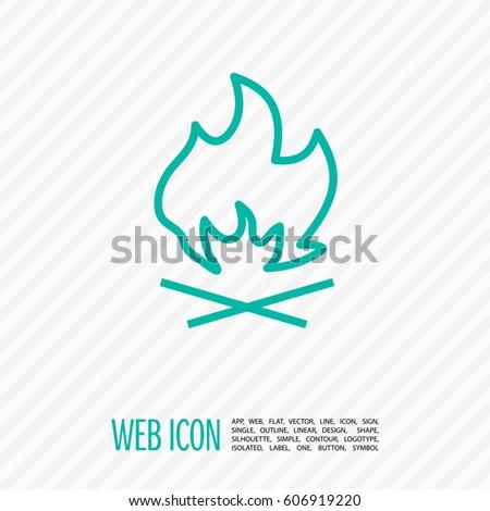 flame isolated minimal icon