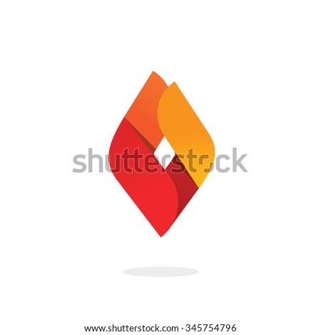 flame logo vector symbol