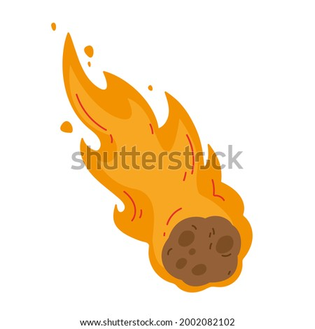 flame meteorite colored fiery