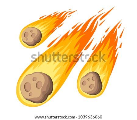 flame meteorite meteor rain