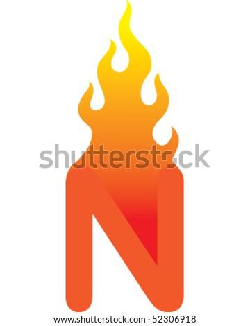 flame   n