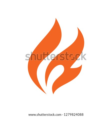 Flame orange icon on white background for graphic and web design, Modern simple vector sign. Internet concept. Trendy symbol for website design web button or mobile app #1279824088