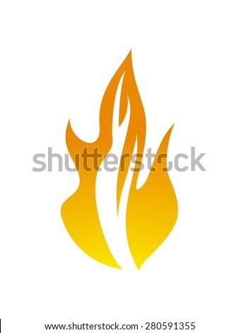 flame symbol, fire design vector illustration #280591355