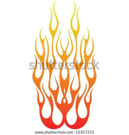 stock vector Flame tattoo