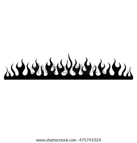 Flame tattoo tribal sketch. Fire tattoo.