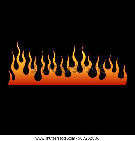 Flame tattoo tribal vector design. Fire isolated template logo.