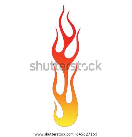 flame tattoo tribal vector