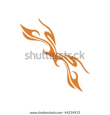 flame tattoo vector. burn