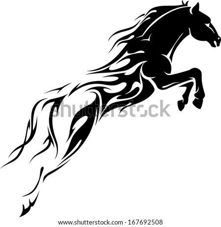 Flame Trail Horse showing speed power