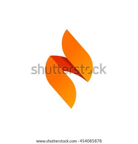 flame vector logo design