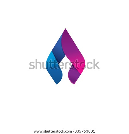 flame vector logo design