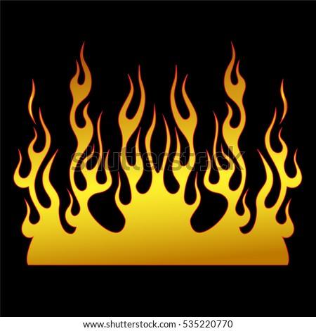 flame vector tribal flame