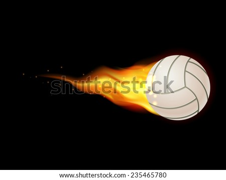 Flamed volley ball