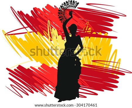 flamenco dancer over spanish