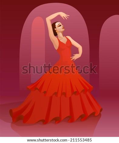 flamenco dancing girl