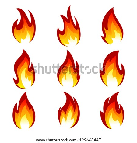flames of different shapes on a