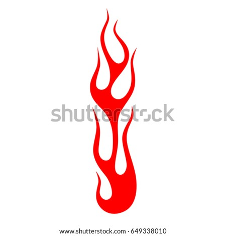 Flames vector icon isolated on white background – icon fire illustration