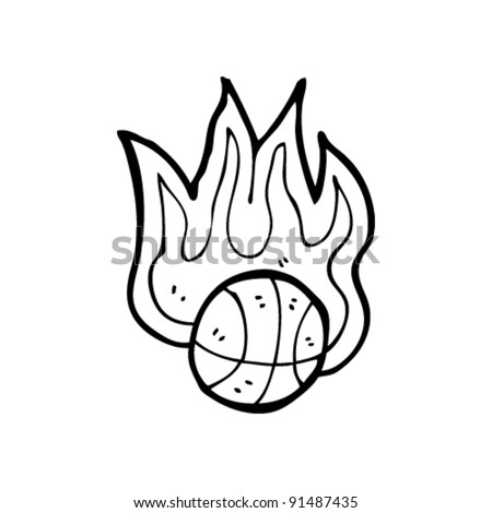 basketball with flames coloring pages - photo#14