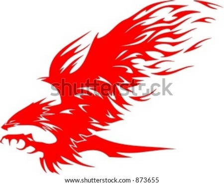 flaming eagle   vehicle graphic