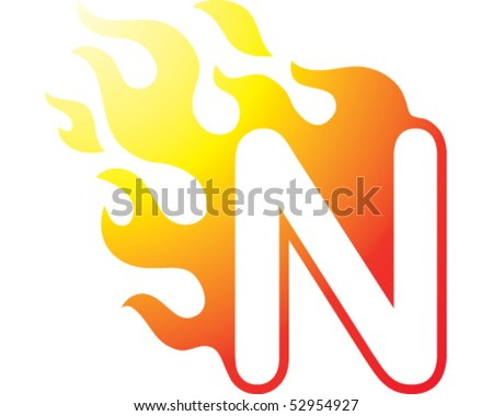 flaming font   n