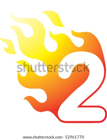 flaming number two