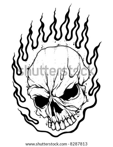 Flaming Skull Coloring Pages http://www.shutterstock.com/pic-8287813/stock-vector-flaming-skull-vector.html