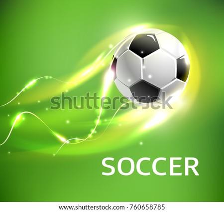 flaming soccer ball 3d vector