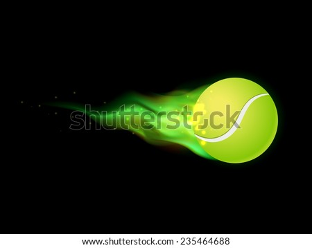 flaming tennis ball