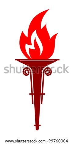 Flaming torch, such logo. Jpeg version also available in gallery