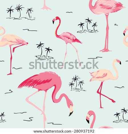 flamingo bird background  ...