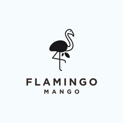 flamingo mango logo. flamingo icon
