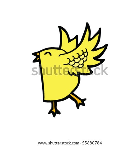 Flapping Bird Cartoon Stock Vector Illustration 55680784 ... - photo#3