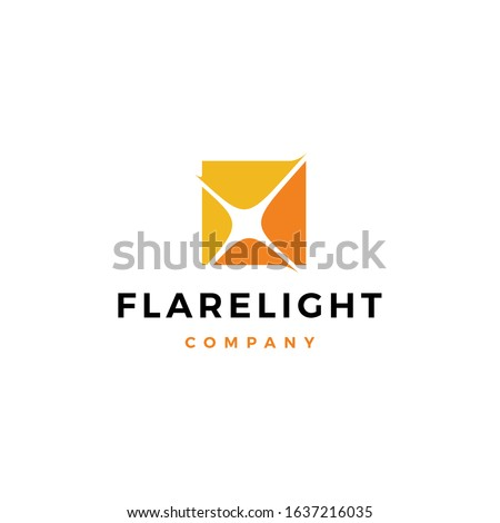 flare light logo vector icon