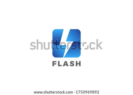 flash bolt energy logo power