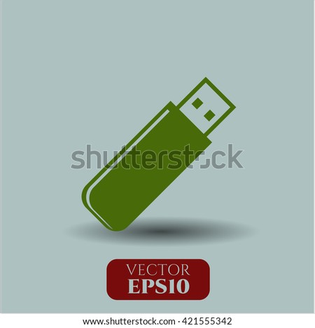 flash drive icon vector symbol flat eps jpg app web