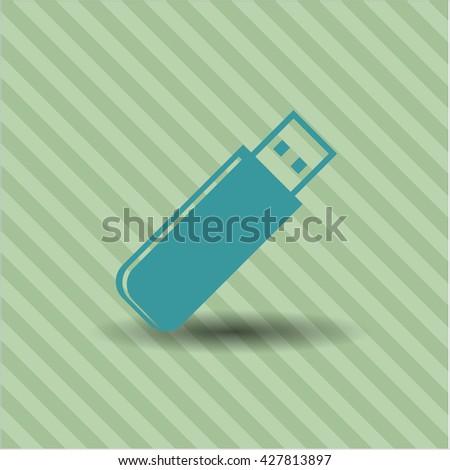 flash drive icon vector symbol flat eps jpg app web