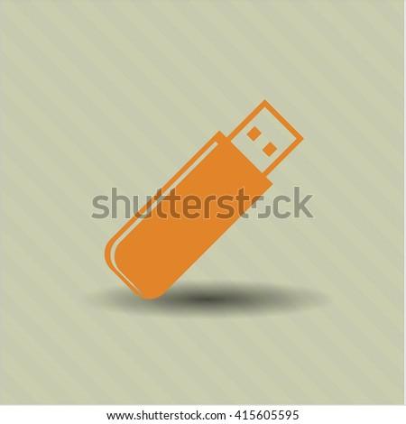 Flash Drive vector symbol
