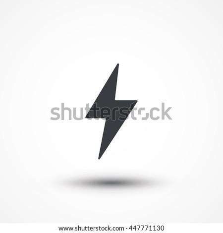 flash icon bolt of lightning