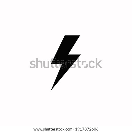 Flash icon vector on a white background Stock fotó ©