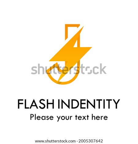 Flash j letter vector logo template. There are font with thunder symbol. Suitable for fast, power, electric, identity and speed.