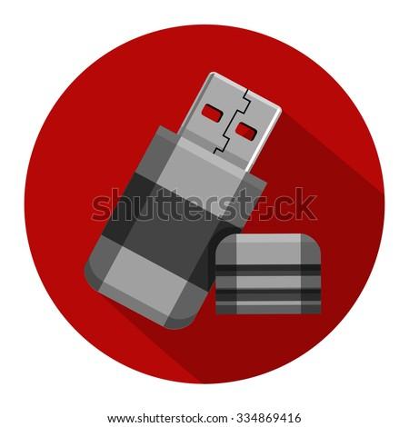 flash memory flat icon