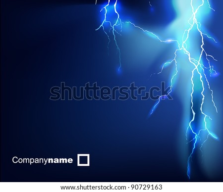 flash of electricity. Eps 10 - stock vector
