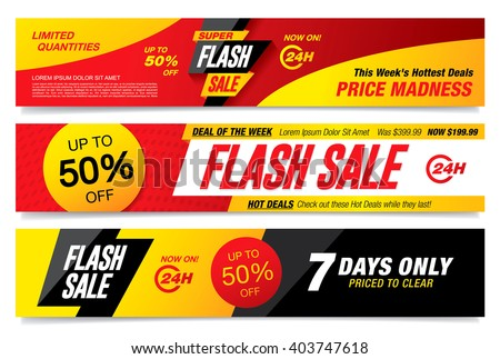Flash sale banners template design