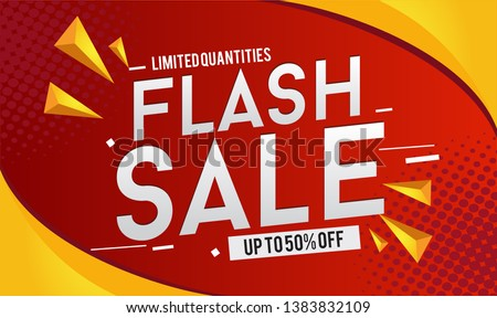 Flash Sale Design for business for business. Discount Banner Promotion Template
