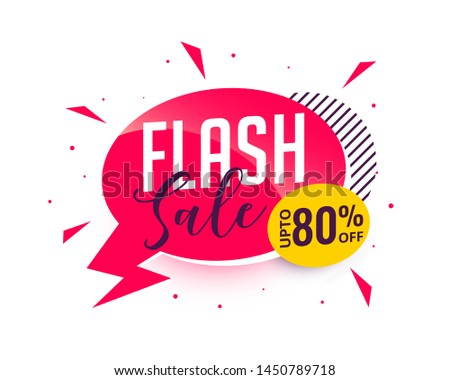 flash sale promotional banner design