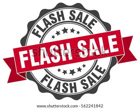 flash sale. stamp. sticker. seal. round grunge vintage ribbon flash sale sign