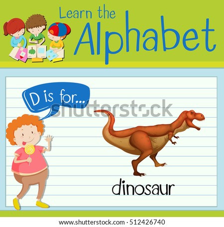 flashcard letter d is for