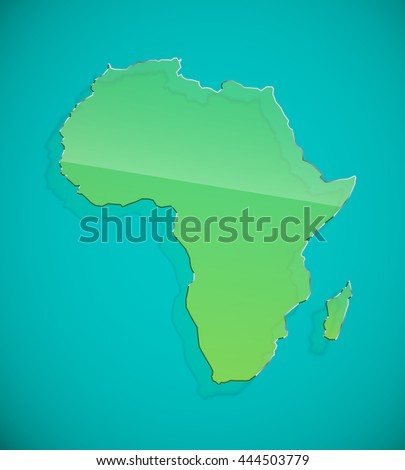 flat african continent glass