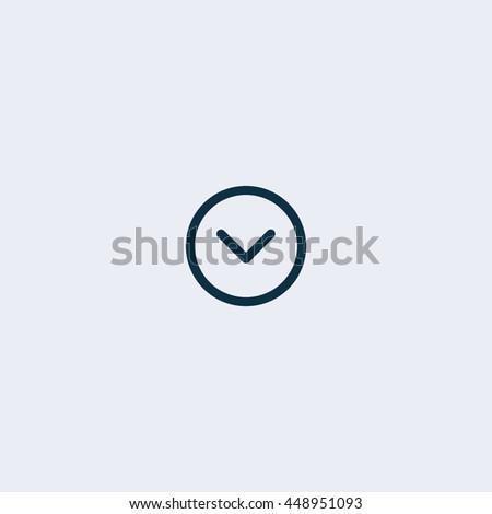 Flat arrow down icon, arrow icon, direction icon, down icon, download icon,chart icon